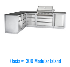 Outdoor kitchens by napoleon oasis 300 modular island for California kitchen cabinets abbotsford