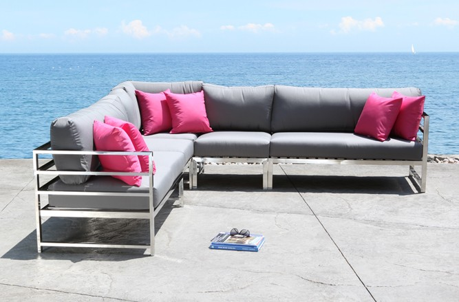 SOHO Outdoor Sectional Stainless Steel Patio Furniture