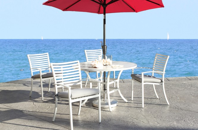 Still Dining Cast Aluminum Patio Furniture