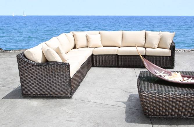 Nevada Outdoor Sectional Wicker Patio Furniture in Toronto
