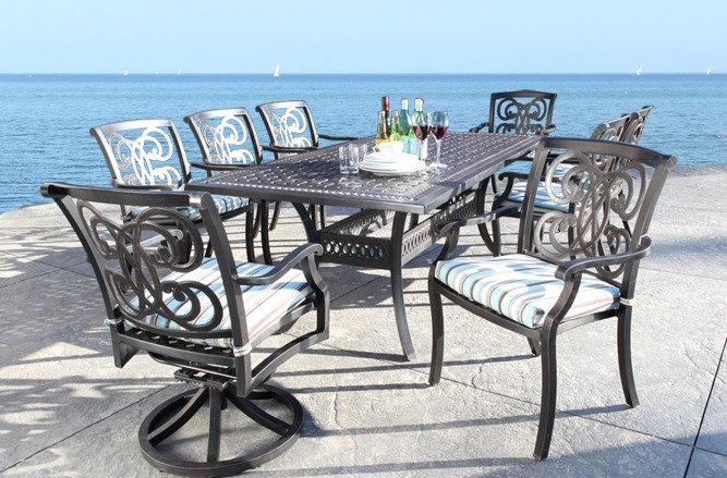 Arc Dining Cast Aluminum Patio Furniture
