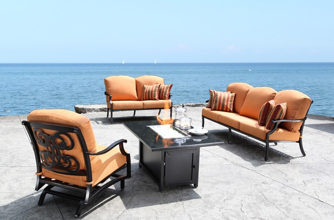 Arc Seating Cast Aluminum Patio Furniture