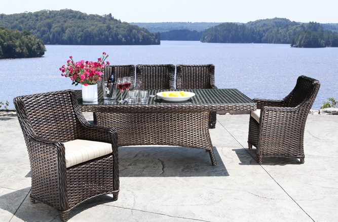 Outdoor Wicker Patio Furniture - Nevada Dining Set with a Luxury Design in Toronto