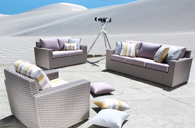 Outdoor Wicker Patio Furniture - Haven High End Modern Patio Conversation Set in Toronto