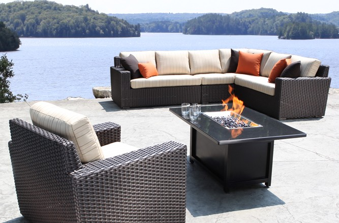 Outdoor Sectional  Wicker Patio Furniture - Haven High End Modern Outdoor Sectional in Toronto