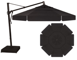 the beautiful and impressive treasure garden akz 13u2032 octagonal cantilever umbrella is one of the largest umbrellas you can purchase with 133 sq ft of