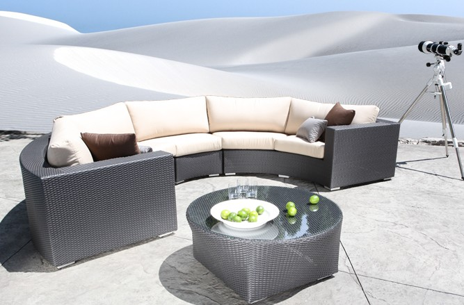 Outdoor Sectional Wicker Patio Furniture - Chorus Round Modern Outdoor Sectional in Toronto
