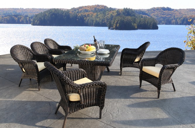 Outdoor Wicker Garden Furniture - Alps Classic Luxury Patio Dining Set