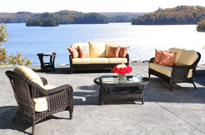 Wicker Garden Furniture - Alps Classic Luxury Patio Conversation Set