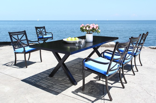 Cast Aluminum Patio Furniture - Rosedale Patio Dining Set