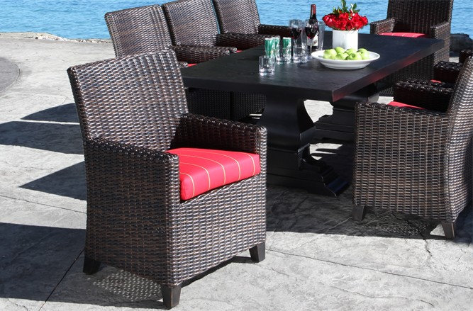Outdoor Wicker Patio Furniture - Columbia Dining Set With a Modern Luxury Design in Toronto