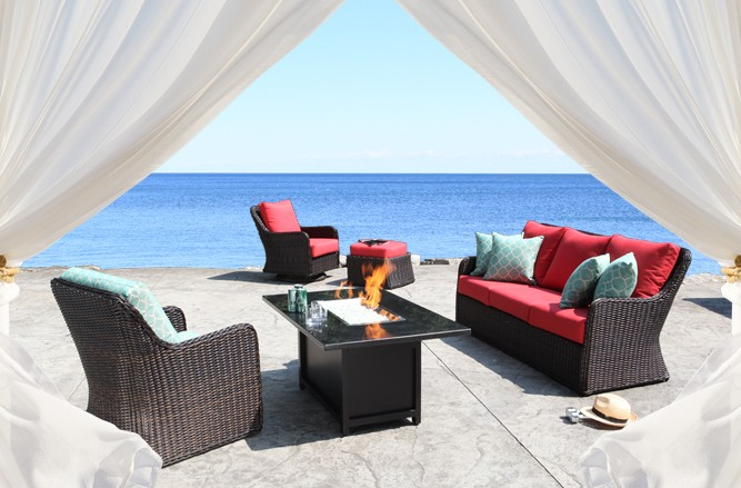 Outdoor Wicker Patio Furniture - Dune Conversation Set with a Modern Luxury Design in Toronto