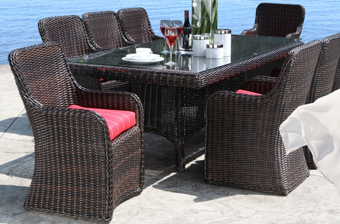 Outdoor Wicker Patio Furniture - Dune Dining Set with a Modern Luxury Design in Toronto