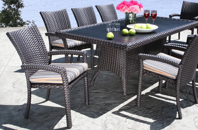 Outdoor Wicker Patio Furniture - Haven Dining Set with a Modern Luxury Design in Toronto