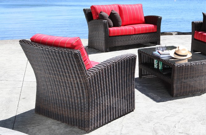 Outdoor Wicker Patio Furniture - Westport Conversation Set With a Modern Luxury Design in Toronto