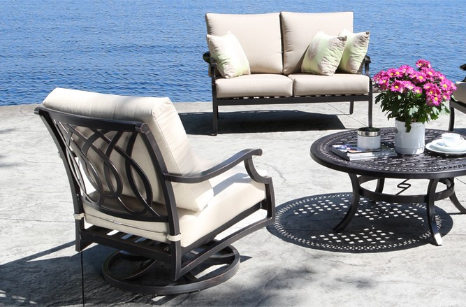 Cast Aluminum Patio Furniture - Bloom Conversation Set With a Modern Design in Toronto