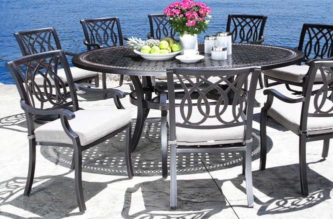 Cast Aluminum Patio Furniture - Bloom Dining Set With a Modern Design in Toronto