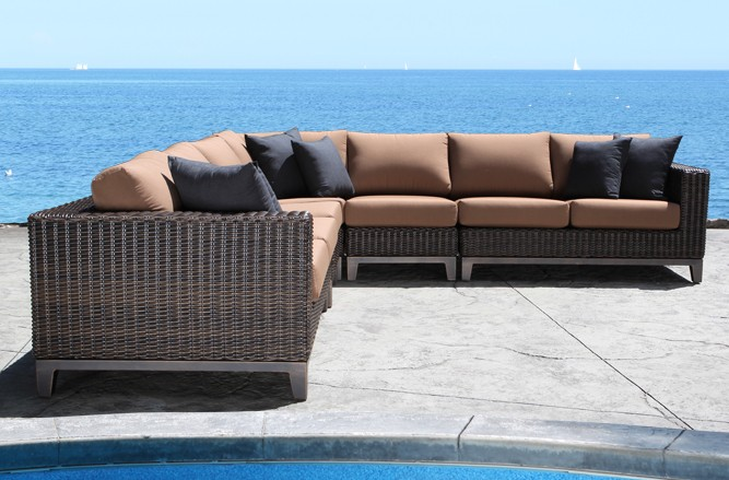Outdoor Wicker Patio Furniture - Columbia Outdoor Sectional with a Modern Luxury Design in Toronto