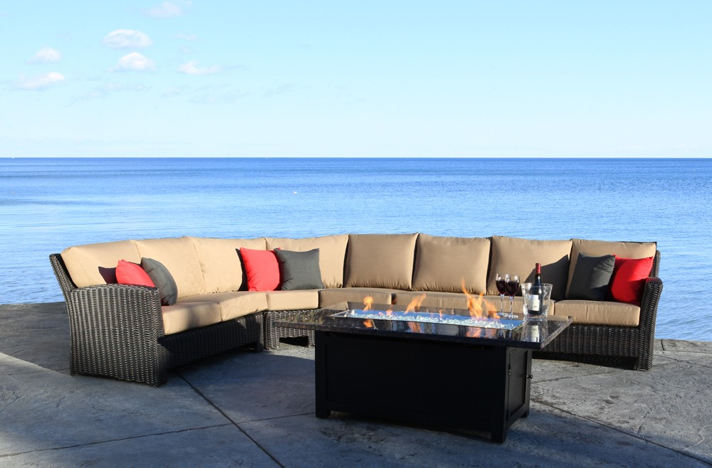 Outdoor Wicker Patio Furniture - Westport Outdoor Sectional t with a Modern Luxury Design in Toronto