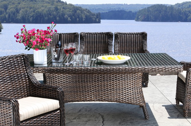 Outdoor Wicker Patio Furniture - Nevada Dining Table with a Modern Luxury Design