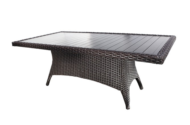 Outdoor Wicker Patio Furniture - Louvre Dining Table with a Modern Luxury Design