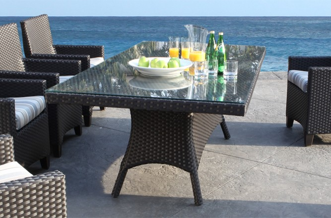 Wicker Patio Furniture - Modern Design Palazzo Dining Table