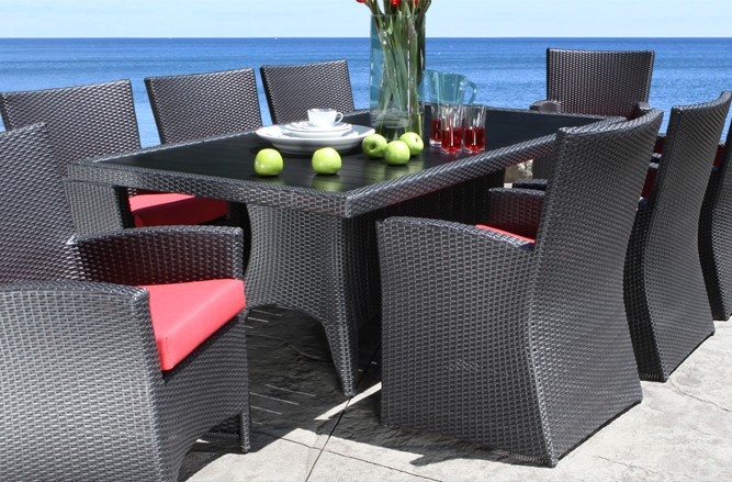 Outdoor Wicker Patio Furniture - Flight Dining Table with a Modern Luxury Design
