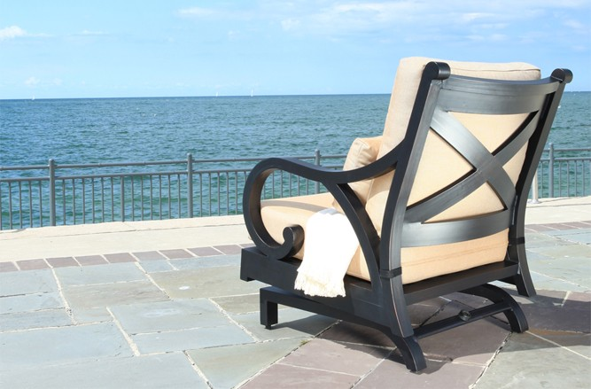 Cast Aluminum Patio Furniture - Elan Luxury Patio Conversation Set in Toronto