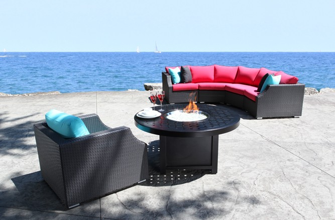 Resin Wicker Patio Furniture - Chelsea Conversation Set With a Contemporary Design in Balcony Size