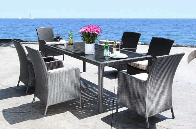 Luna Dining Wicker Patio Furniture