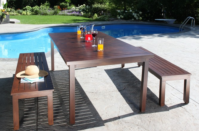 Monaco Table Cast Aluminum Patio Furniture