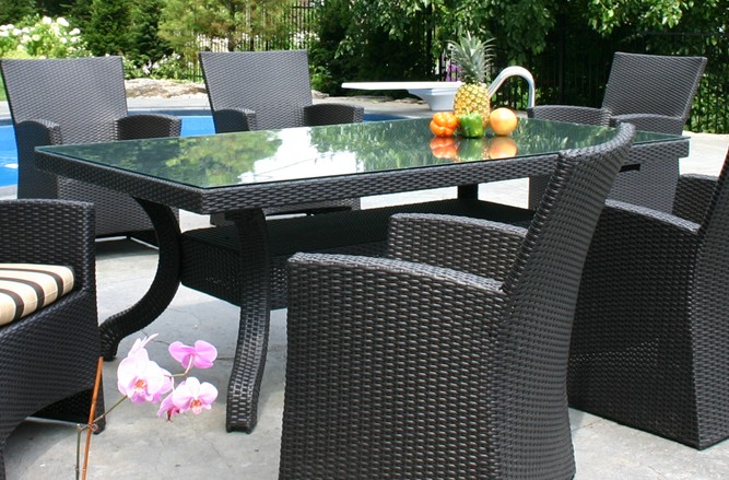 California Table Wicker Patio Furniture