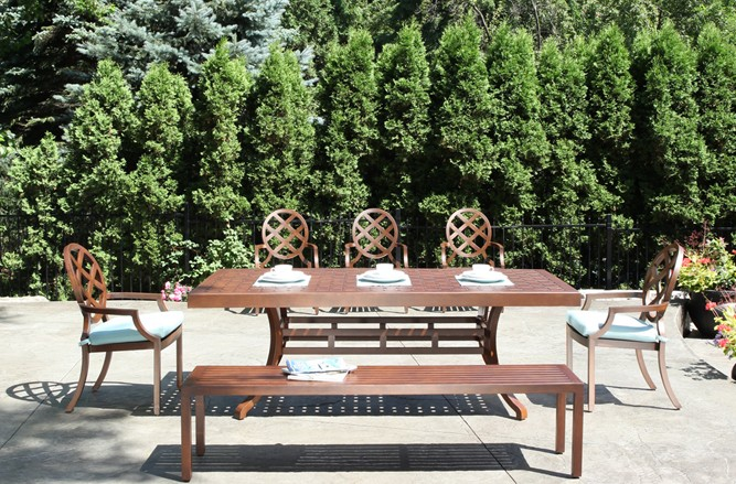 Fusion Dining Cast Aluminum Patio Furniture