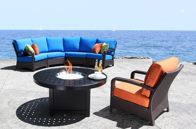 Solano Outdoor Sectional Wicker Patio Furniture in Toronto