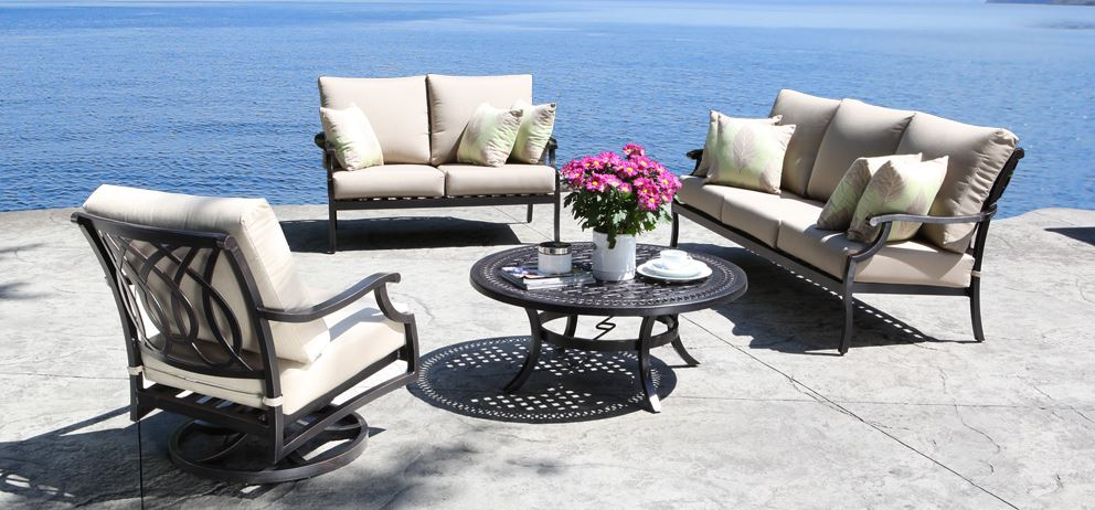Cast Aluminum Patio Furniture (Conversation Sets) Bloom