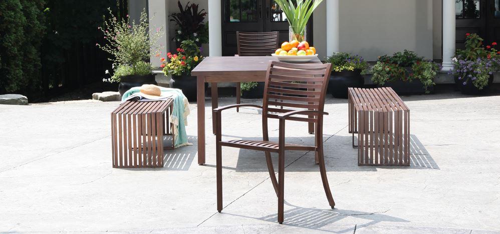 CabanaCoast Cast Aluminum Patio Furniture Dining Sets Oasis