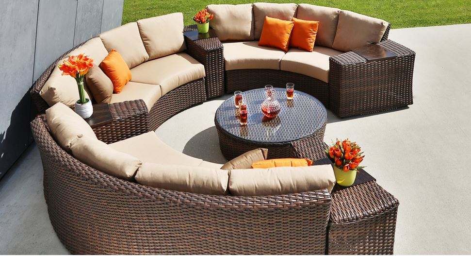 portfino curved sectional