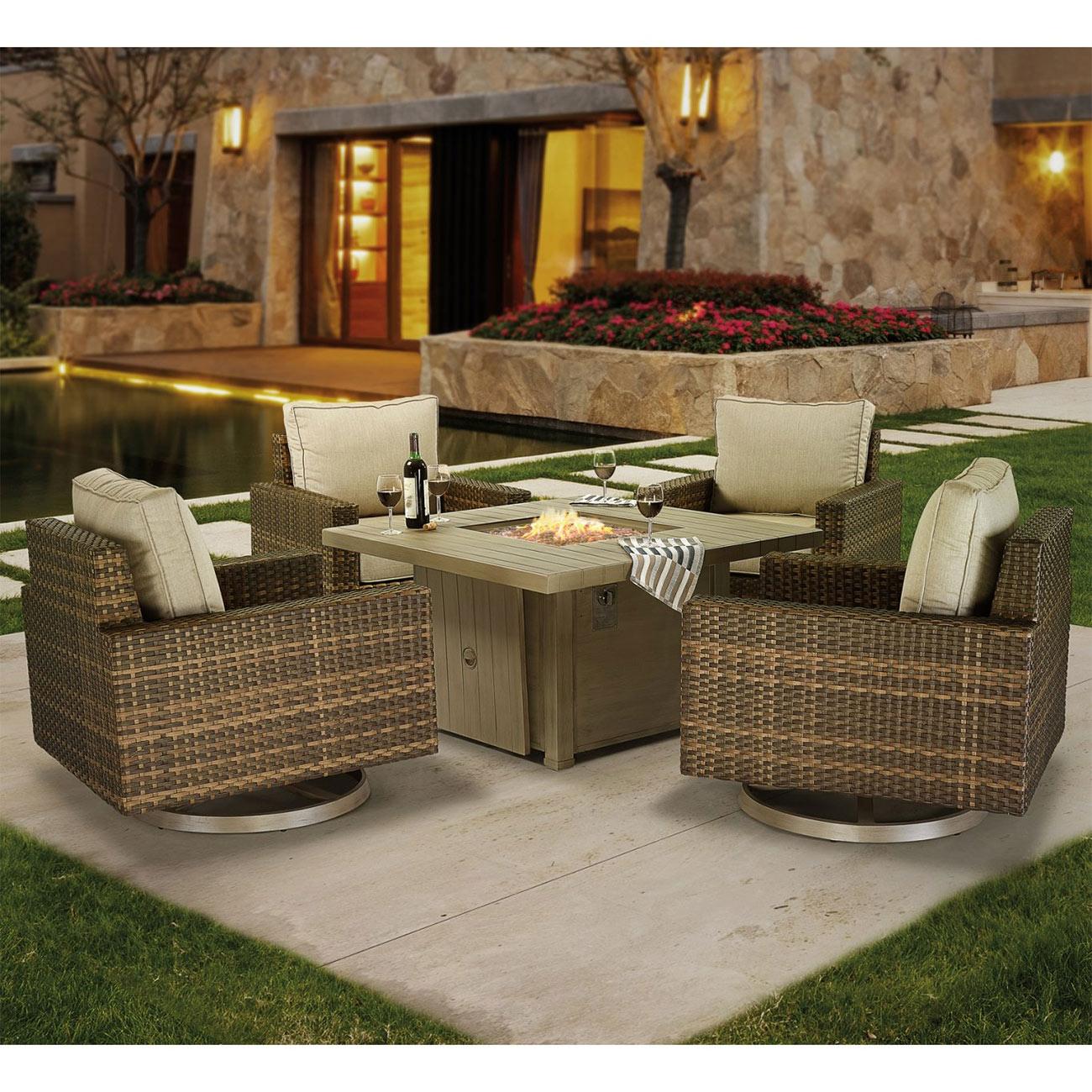 garden furniture fire pit set