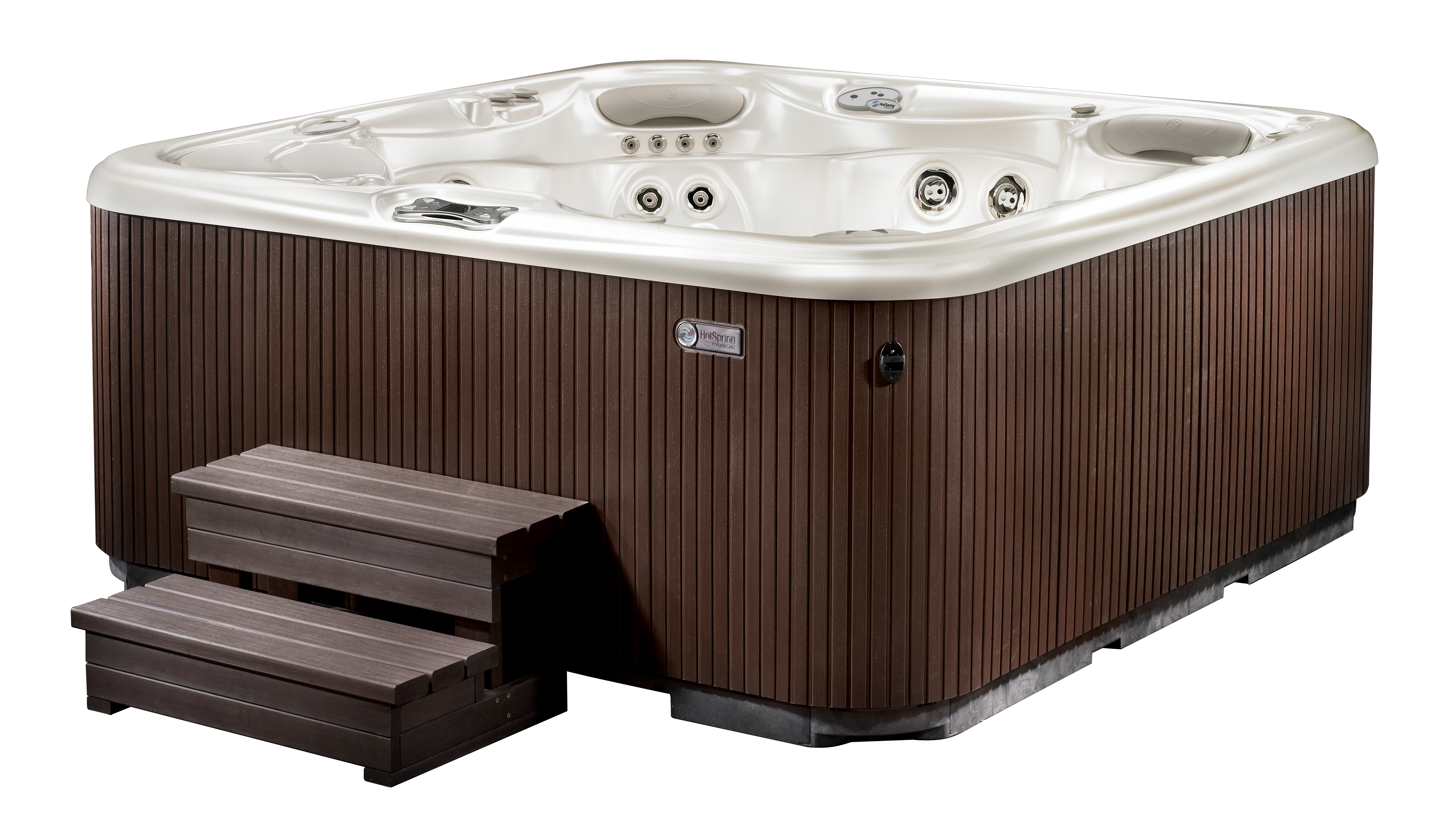 Hotspring hot tubs the aria 5 person hot tub for Hot tub styles
