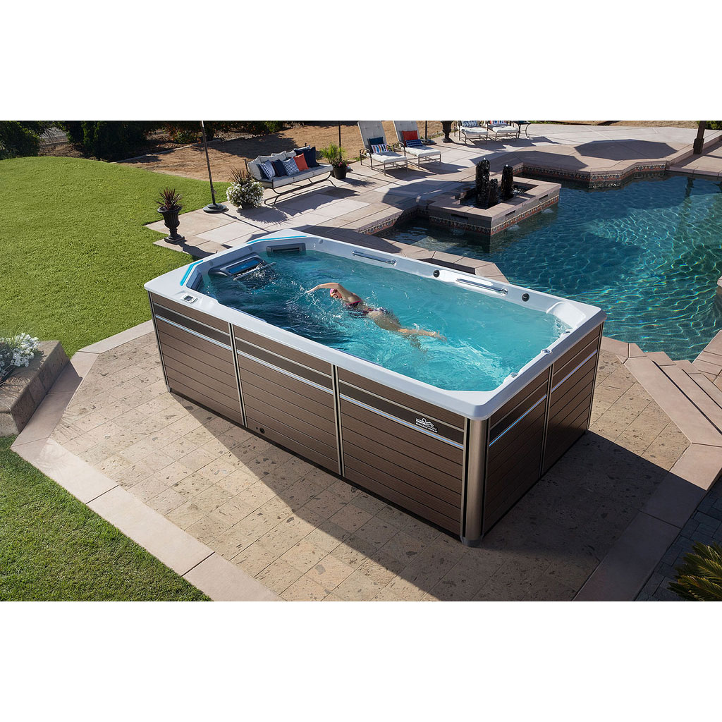 Endless pools e550 fitness system hotspring fantasy - How much is an endless pool swim spa ...